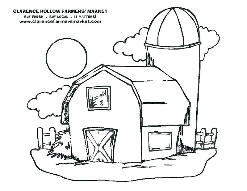 800x618 Barn Coloring Pages With Animals How To Draw A Page Color