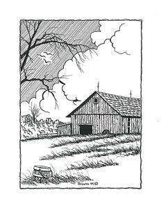 232x300 Barn Landscape Drawings