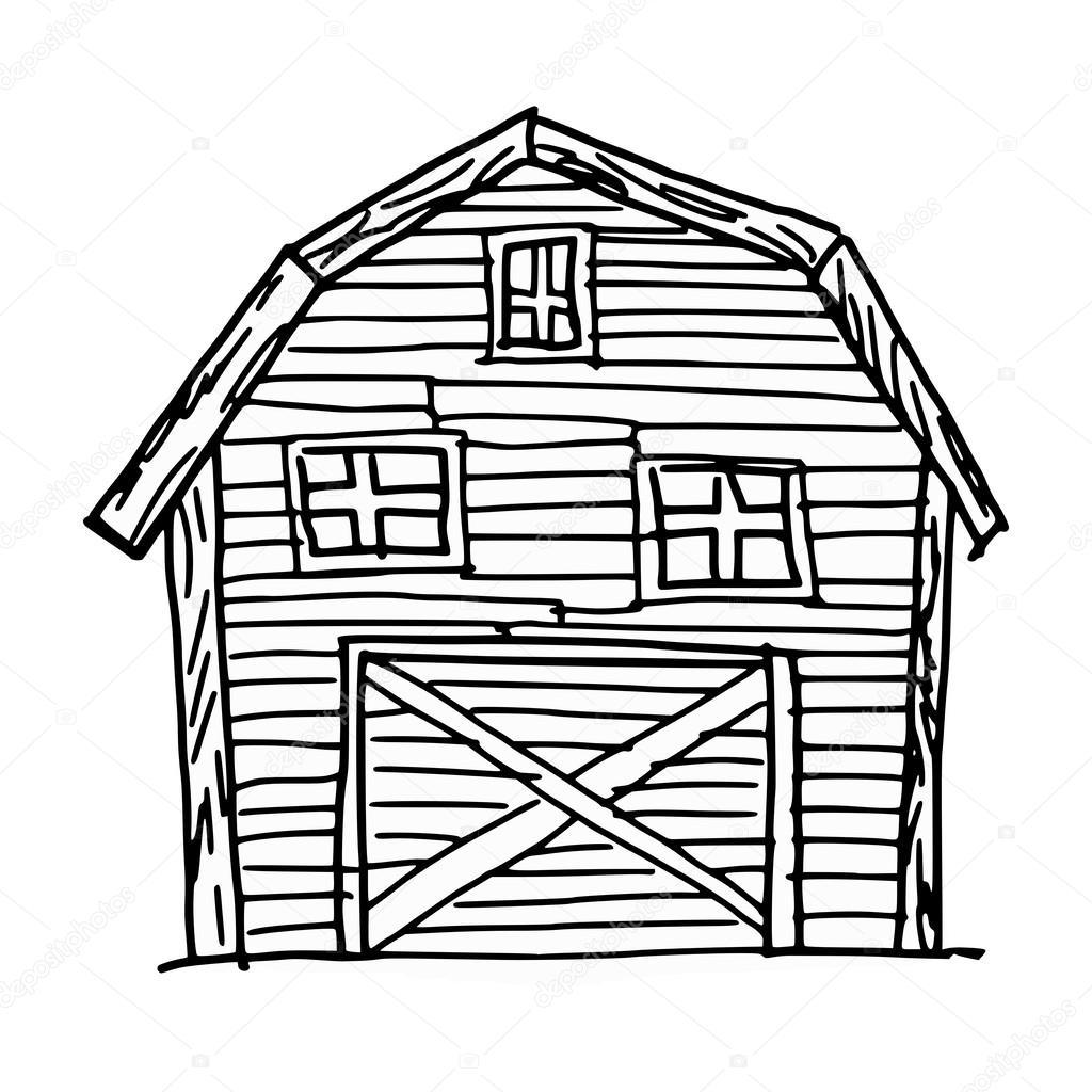 1024x1024 Barn Stock Vector Perysty