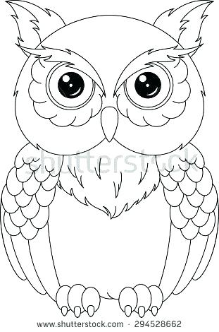 311x470 Elegant Barn Owl Coloring Page Or Coloring Pages Owl And Pin Drawn