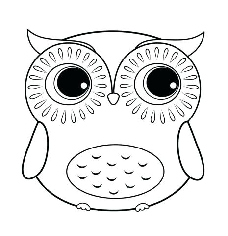 465x480 Barn Owl Coloring Page