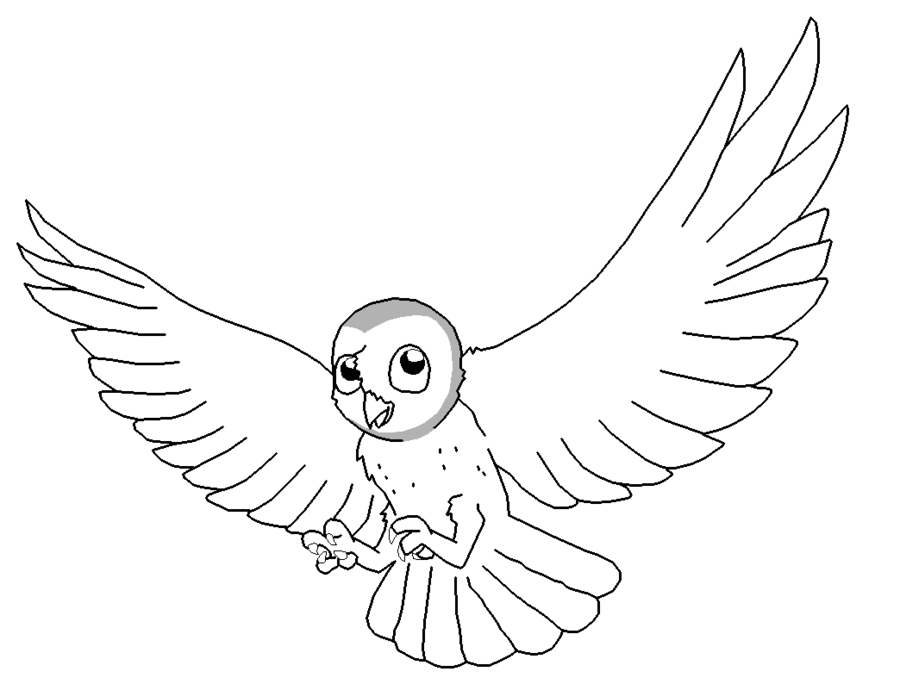 900x684 Barn Owl Lineart By Xbox Ds Gameboy