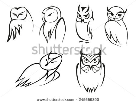 450x342 Native American Symbol Barn Owl Drawings Clipart Collection