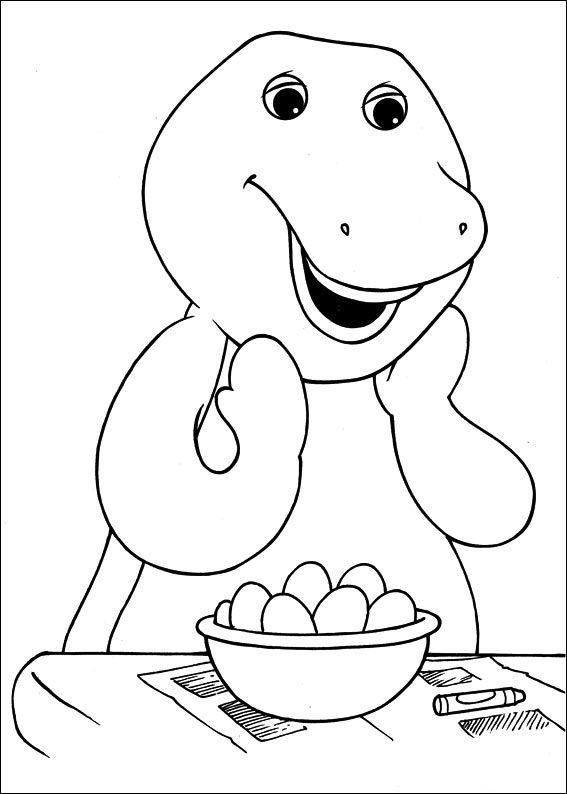 Barney Drawing