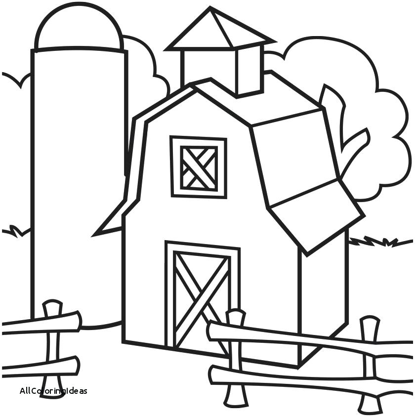 842x842 Drawing Barn Coloring Page Color