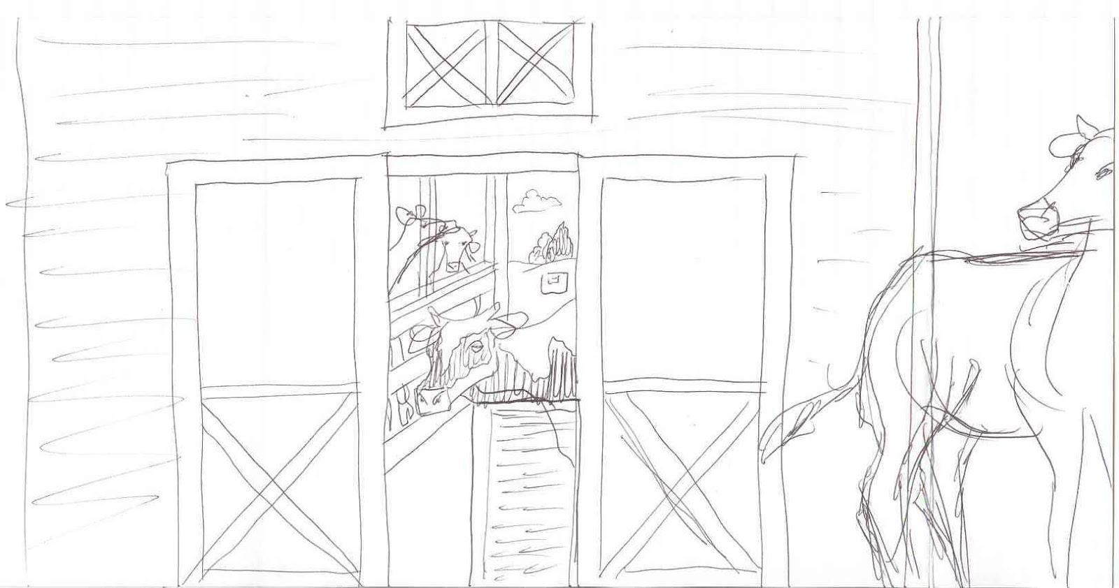 1600x842 The Talking Artist 6 ~ Mural 2012 Gesture Drawings Of Barns