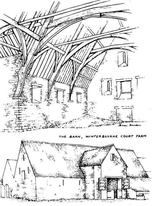 528x715 Winterbourne Court Farm 14th Century Tithe Barn. History
