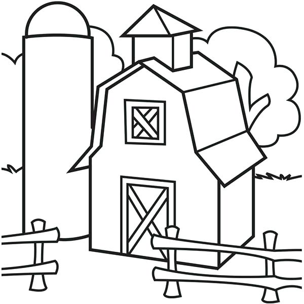 600x600 Barns Coloring Pages Part 5 Free Resource For Teaching Drawing