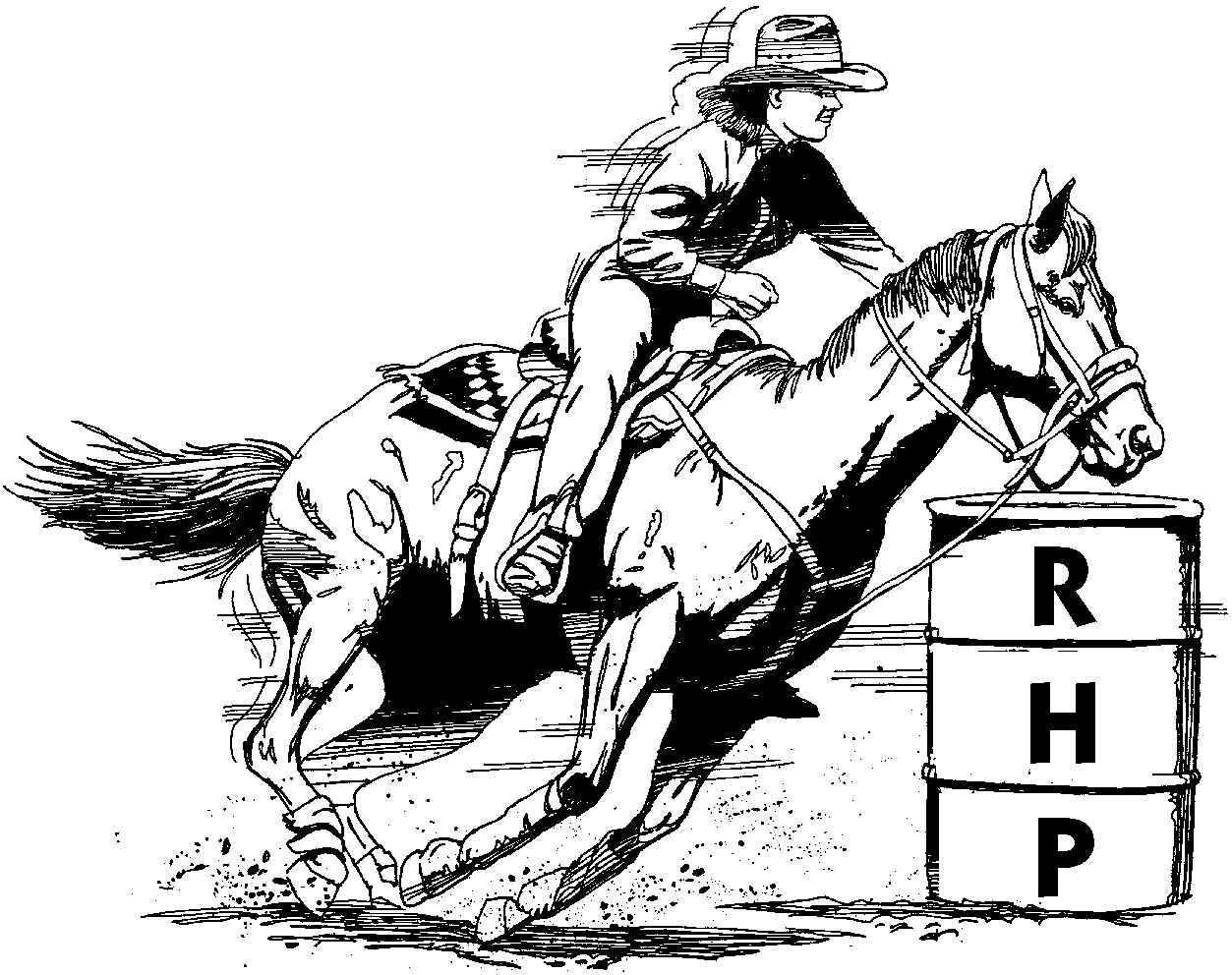 Barrel Racing Drawing