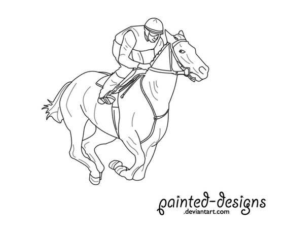 564x459 How To Draw Race Horses