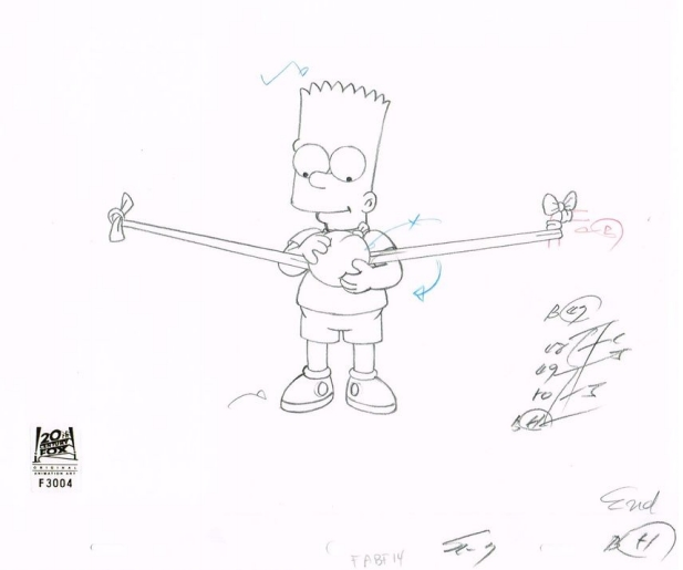 Bart Simpson Drawing