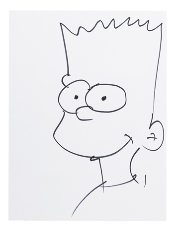 354x470 Drawing Of Bart Simpson By Sam Simon By Sam Simon On Artnet