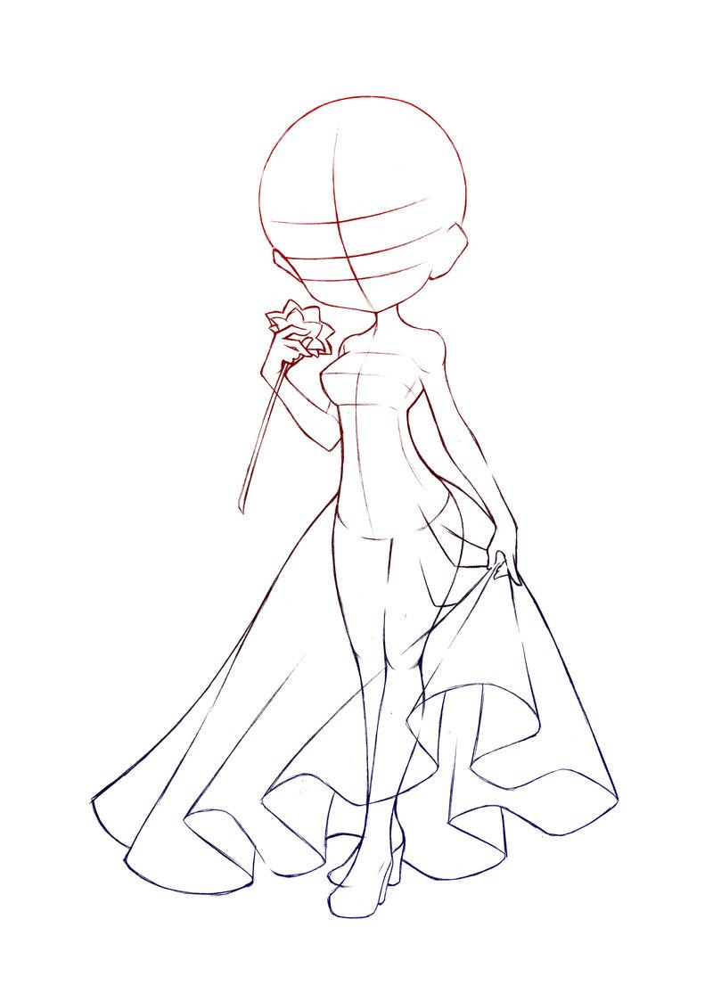 800x1105 Anime Base Drawing Base 05 With Skirtsureya
