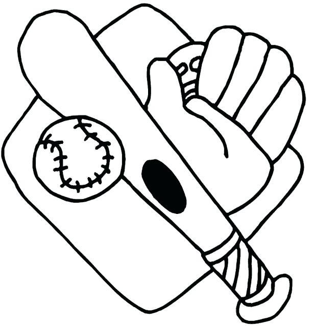 613x637 Baseball Coloring Picture Baseball Bat Coloring Book Mlb Baseball