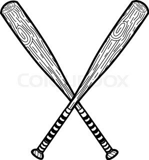 298x320 Baseball Bat Icon. Flat Design. Vector Illustration. Stock