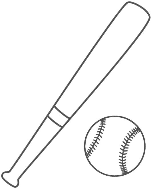 564x665 Baseball Bat Pattern. Use The Printable Pattern For Crafts