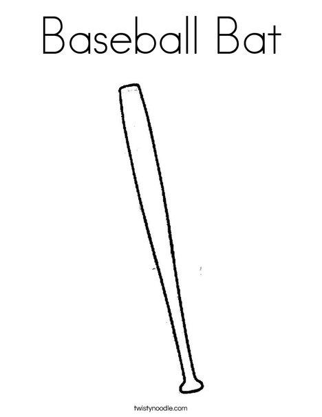 468x605 Baseball Bat Coloring Page