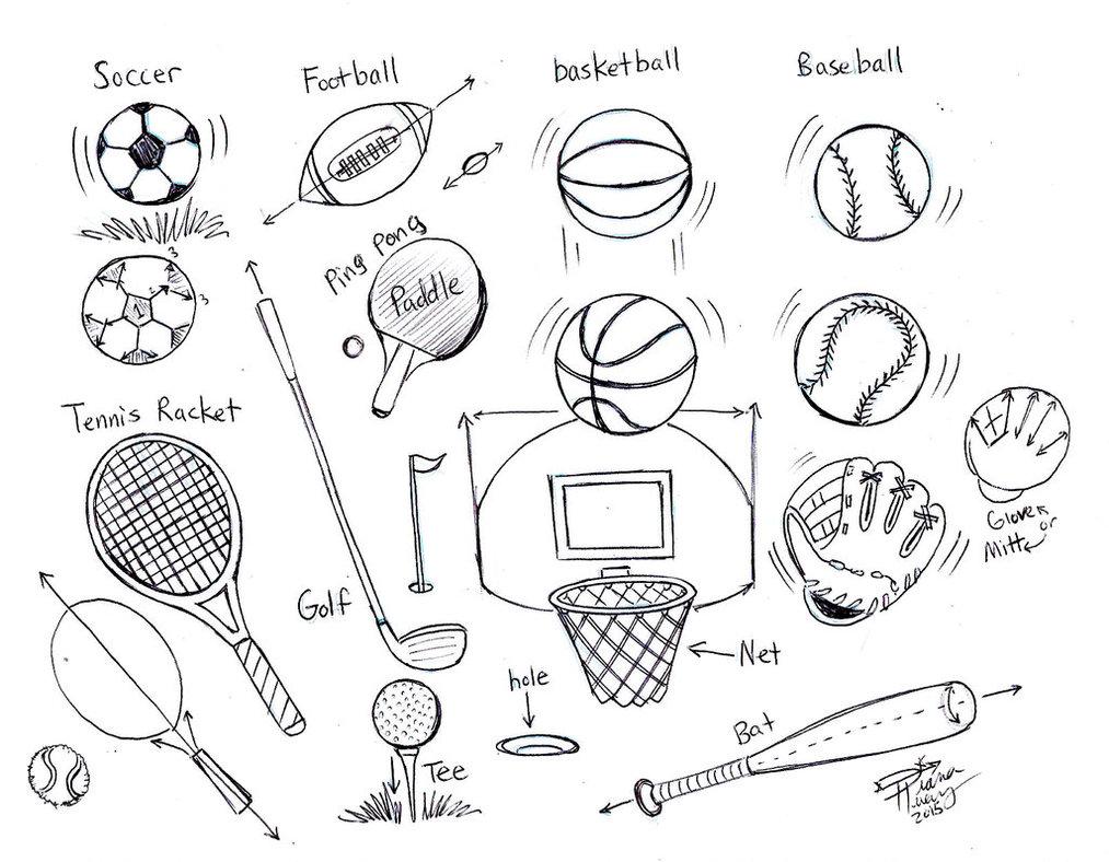 1013x788 Draw Sports Balls By Diana Huang