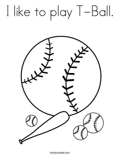 468x605 I Like To Play T Ball Coloring Page