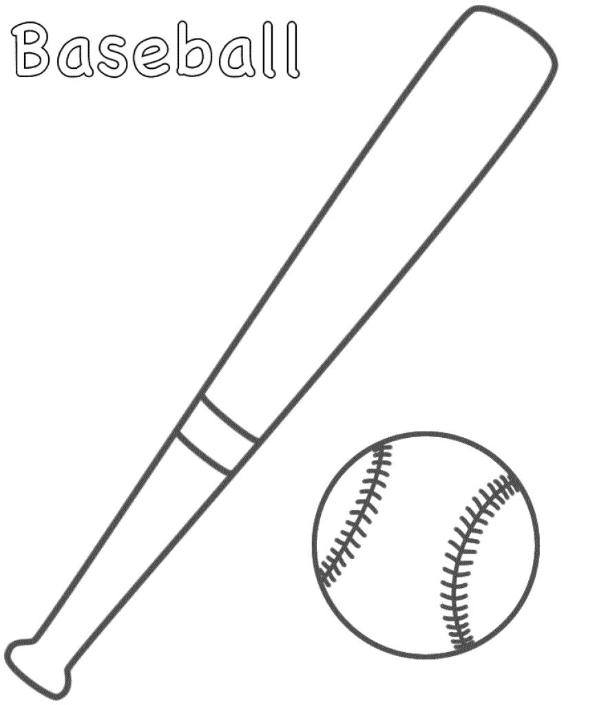867x1024 Baseball Bat Coloring Page