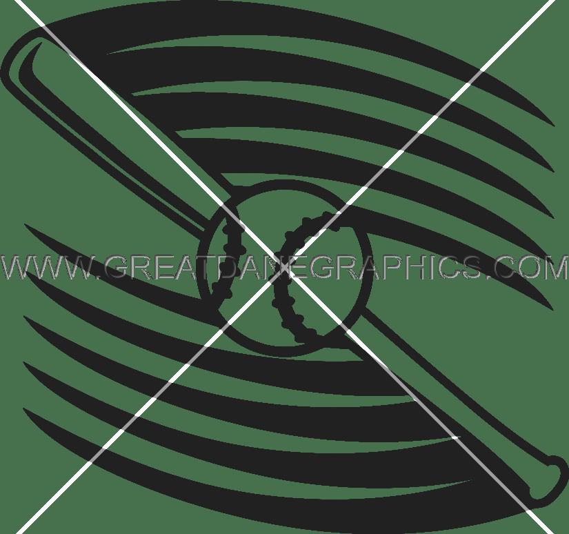 825x774 Baseball Bat Swoosh Production Ready Artwork For T Shirt Printing