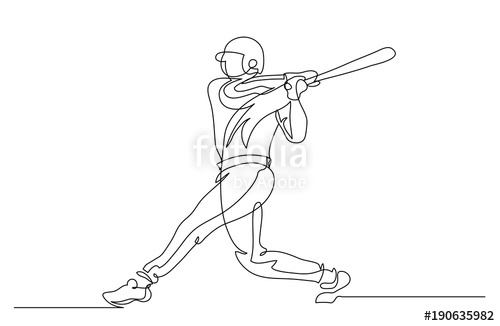 500x326 Continuous Line Drawing. Illustration Shows Player Beats