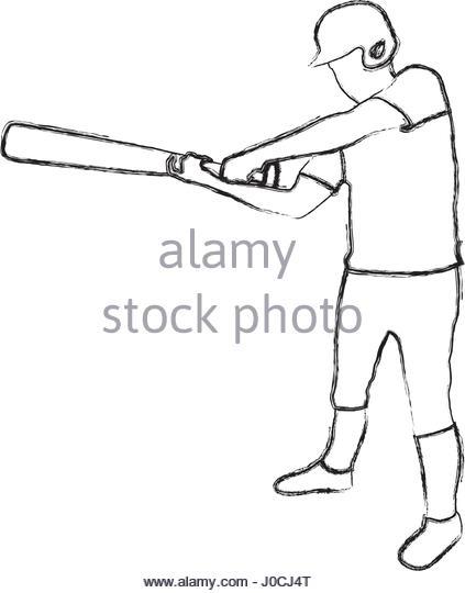 423x540 Monochrome Contour Baseball Bat Stock Photos Amp Monochrome Contour