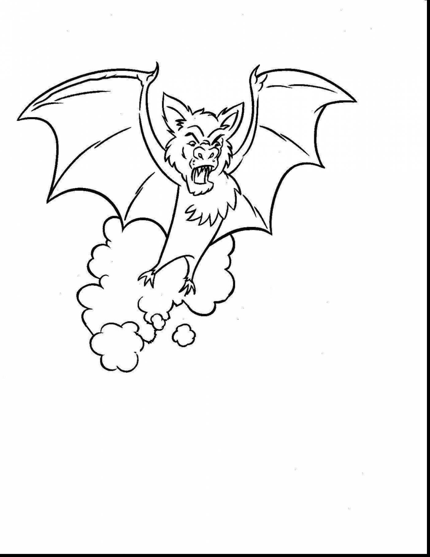 1402x1815 Remarkable How To Draw Bats Drawing With Bat Coloring Page