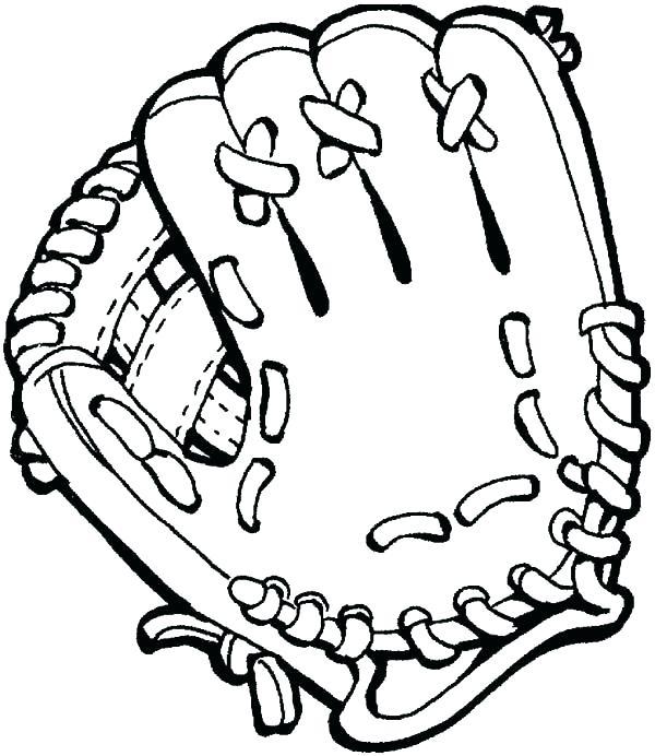 600x692 Baseball Batter Up Coloring Page Glove Pin