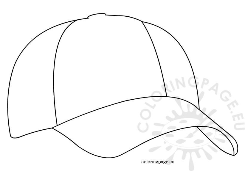822x575 Baseball Cap Coloring Page