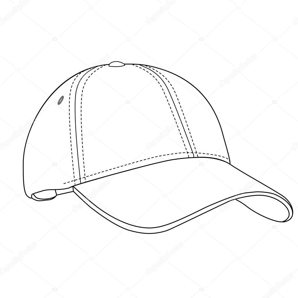 1024x1024 Baseball Cap Outlinme Stock Photo Viktorijareut