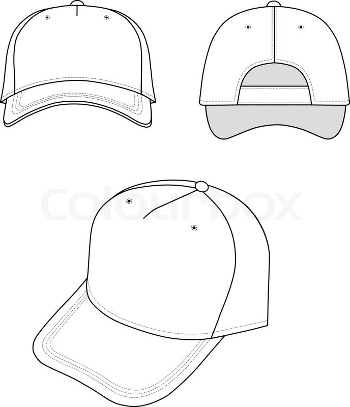 688x800 Cap Isolated On White Background Stock Vector Colourbox