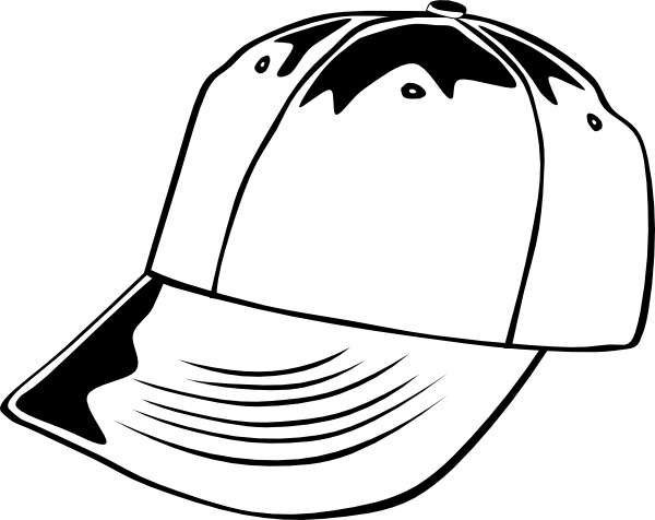 600x476 Baseball Cap (B And W) Clip Art Free Vector In Open Office Drawing