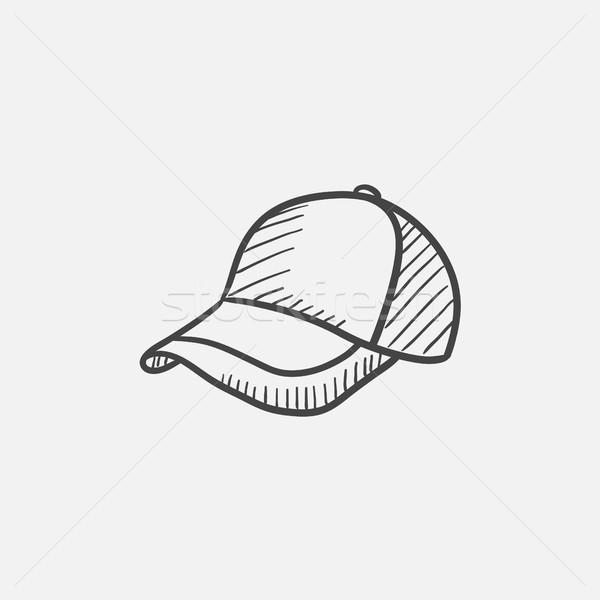 600x600 Baseball Hat Sketch Icon. Vector Illustration Andrei Krauchuk