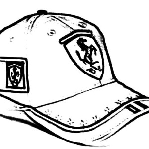 300x300 Drawing Baseball Cap Coloring Page Sun