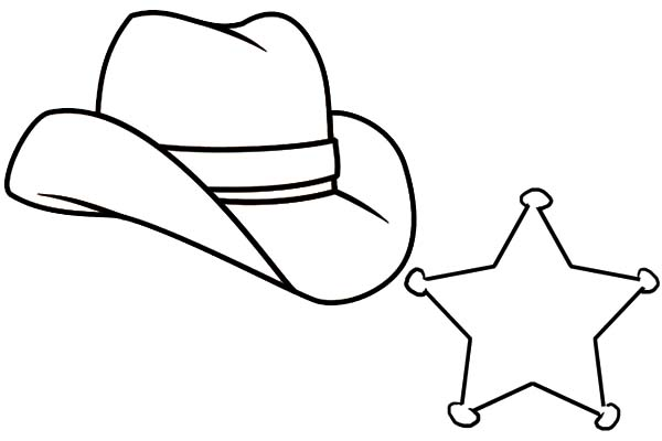 600x400 Drawing Of A Cowboy Hat Group