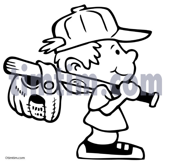 573x541 Free Drawing Of A Baseball Boy Bw2 From The Category Sports