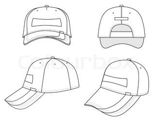 320x257 Vector Hand Drawn Baseball Hat Outline Doodle Icon. Baseball Cap