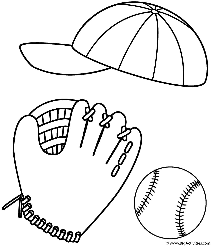 1296x1500 Baseball Cap, Glove And Ball