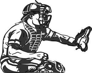 300x239 Buy Baseball Catcher Player Sports Removable Sticker Decal Vinyl