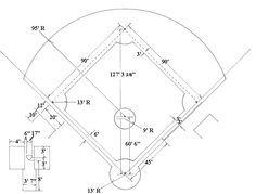 Baseball Diamond Drawing