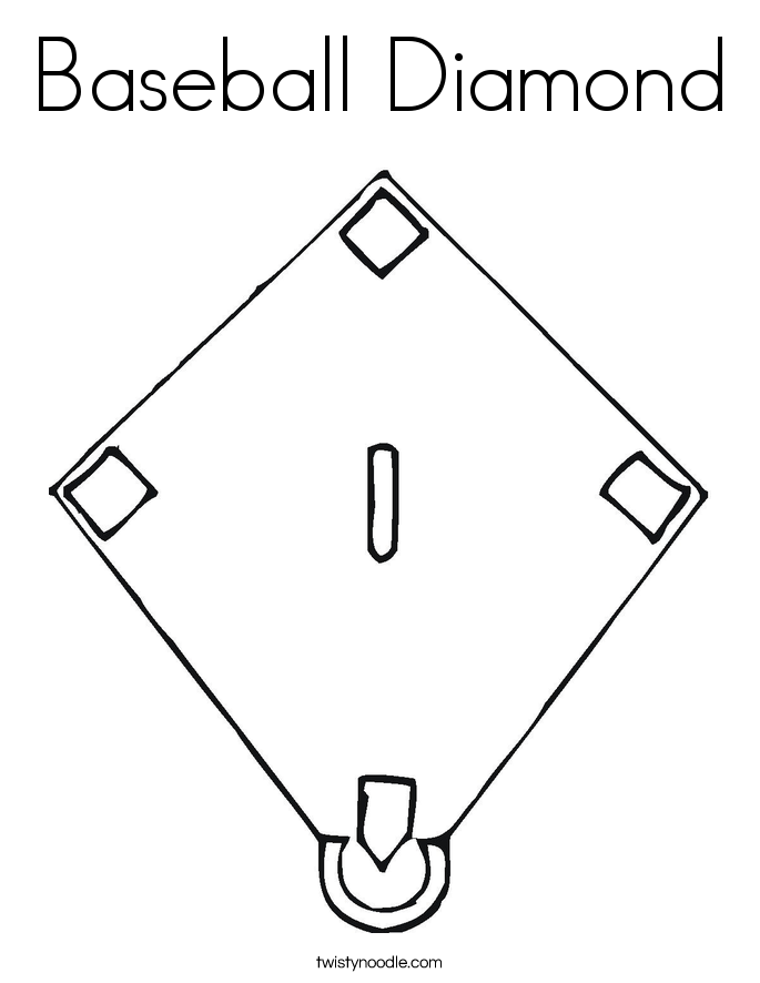 Baseball Diamond Drawing at GetDrawings.com | Free for personal use ...