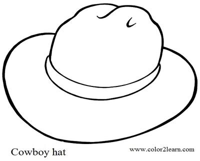400x322 Cowboy Hat Coloring Page Image Clipart Images
