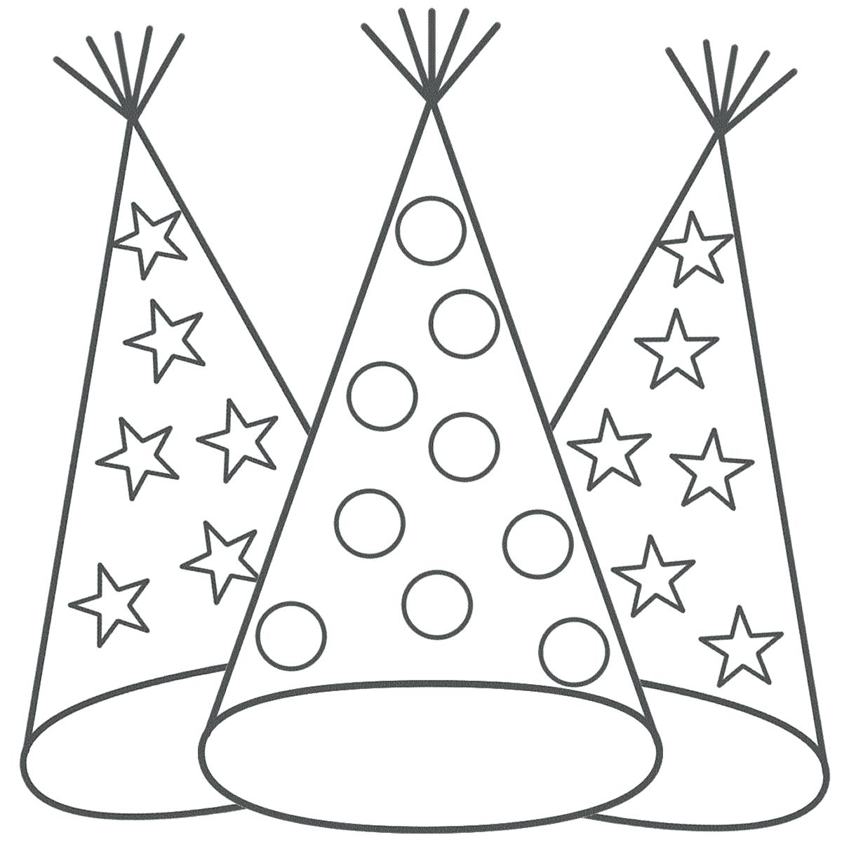 Baseball hat drawing at free for for Coloring pages of birthday hats