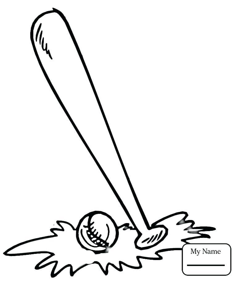765x912 Sports Balls Coloring Pages Baseball Sports Baseball Bat And Ball