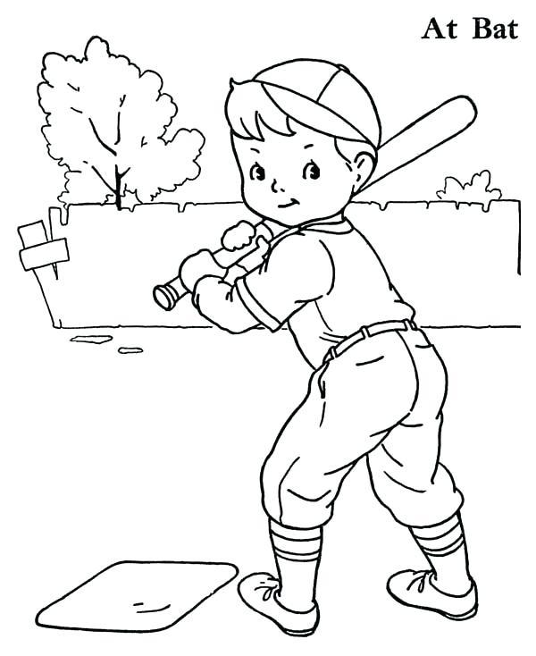 600x734 Baseball Player Coloring Page Baseball Player Coloring Pages Ball