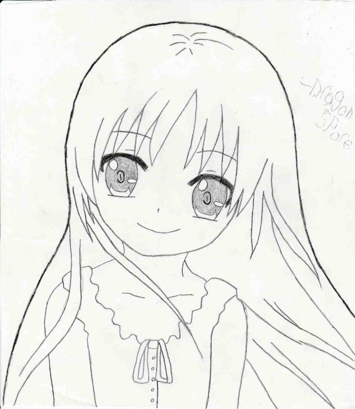 1206x1388 Cute Anime Girls Easy Drawings Google Search. Resultado De Imagem