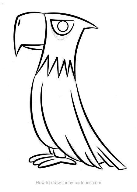 450x630 Eagle Drawing (Sketching + Vector)