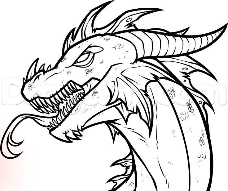 736x619 Drawings Of Easy Dragons