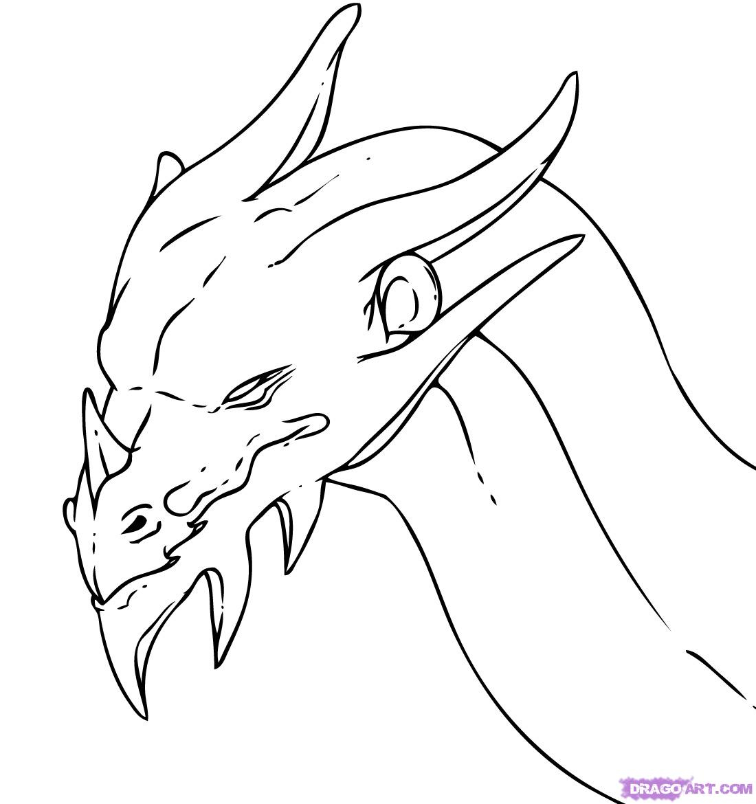 1100x1170 Simple Dragon Head Drawing How To Draw Dragons How To Draw
